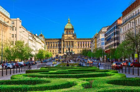 National Museum on Wenceslas Square in Prague