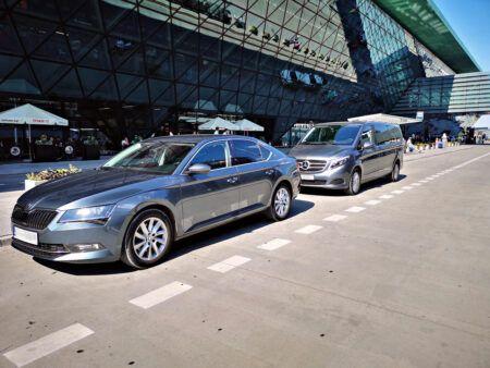 Skoda Superb and Mercedes Benz V-class Private Airport transfer