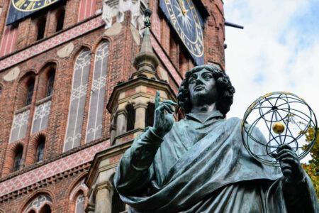 The Nicolaus Copernicus Monument in Torun – home town of astronomer Nicolaus Copernicus
