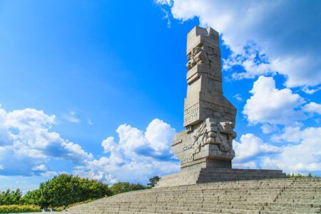 Westerplatte. Monument commemorating first battle of Second World War and Polish Defense in 1939