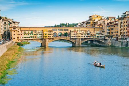 Ponte Vecchio on the Arno River in Florence, Italy